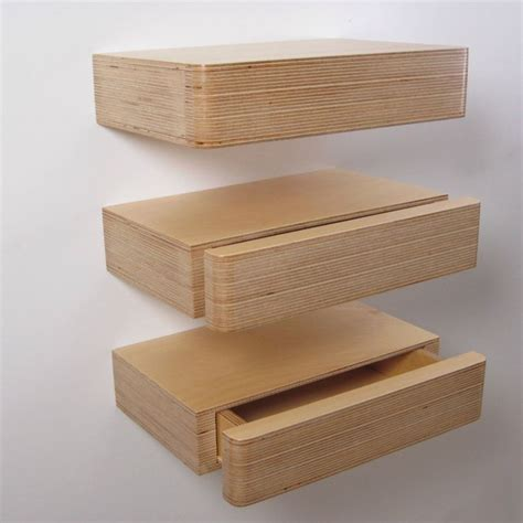 Shelf With Drawers Wall Mounted by Pacco Floating Drawers From Mocha Uk Birch Plywood