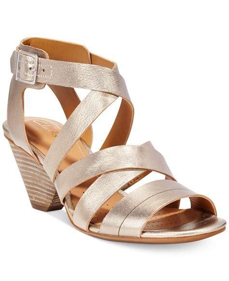 dress sandals clarks artisan s ranae estelle dress sandals in gold