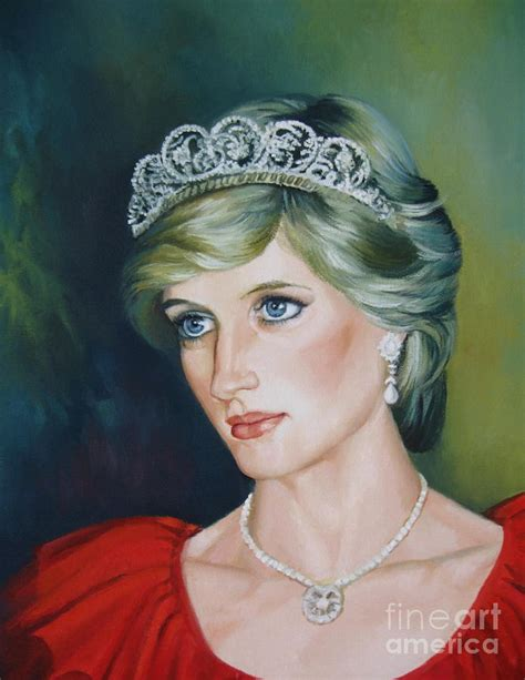 painting for princess princess diana painting by oleniuc