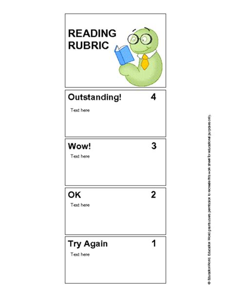 Http Www Educationworld Tools Templates Trading Card Doc by Rubric Bookmark Template Doc Education World