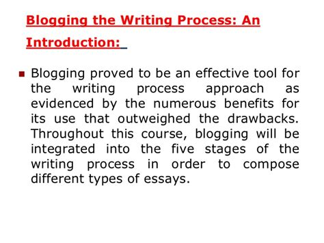 Five Stages Of Essay Writing by The Essay Writing Process