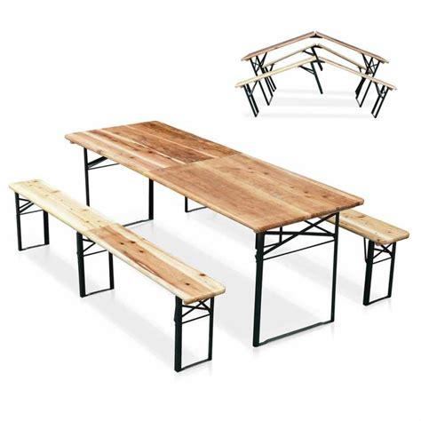 tavolo pieghevole economico set panche e tavolo in legno pieghevoli per feste giardino