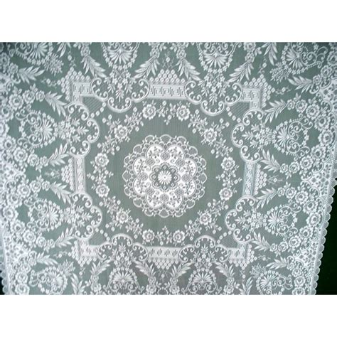table topper grantham 42x42 white lace topper heritage