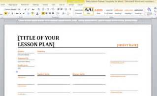 microsoft office lesson plan template daily lesson planner template for word