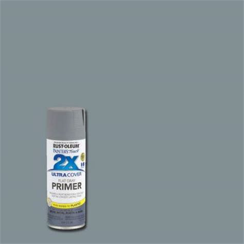 rust oleum painter s touch 2x 12 oz flat gray primer general purpose spray paint 249088 the