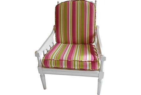 Pink And White Striped Chair by Pink Green Striped Chair