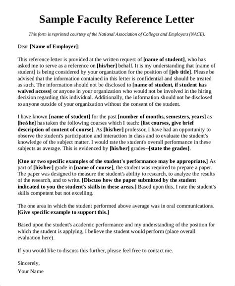 faculty letter of recommendation sle cover letter