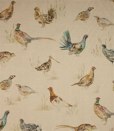 curtain fabric birds voyage decoration game birds fabric linen just fabrics