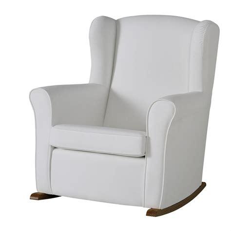 white rocking chair for nursery uk butaca nursing chair in leatherette upholstery white