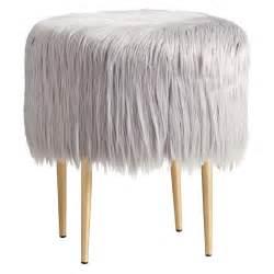 gray fur vanity stool seating gray vanity stool