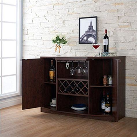 bar buffet wine bar buffet and storage cabinet with center glass and wine rack side shelves and open