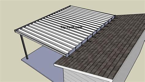mirrasheds   build  shed roof   existing deck