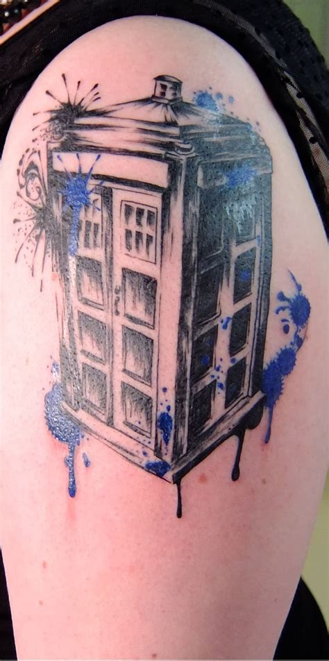 dr tattoo tardis i need a tardis stat