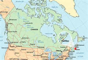 halifax canada map the collision