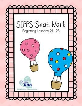 save me a seat reading level sipps sight word seat work bundle beginning lessons 21