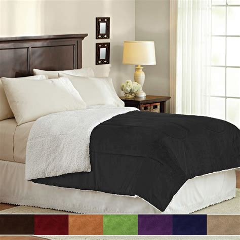 what is bedding down alternative polyester reversible ultra plush sherpa