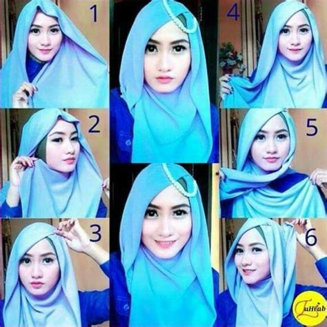 tutorial hijab segiempat ombre 1000 images about hijab terbaru fashion dan aksesoris on