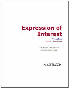 expression of interest template ms word