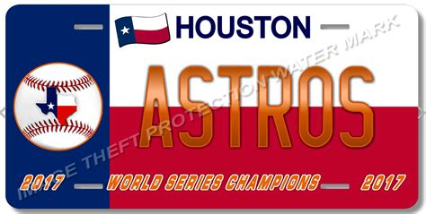 City Of Houston Arrest Records Show Your Team Pride With An Astros License Plate From
