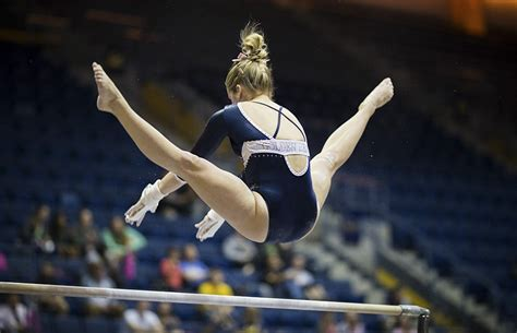 State Oregon Records Cal S Gymnastics Loses To No 17 Oregon State Records Second Worst Score Of The