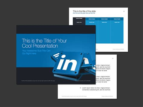 Linkedin Theme For Powerpoint Norebbo Powerpoint Template Size 2014