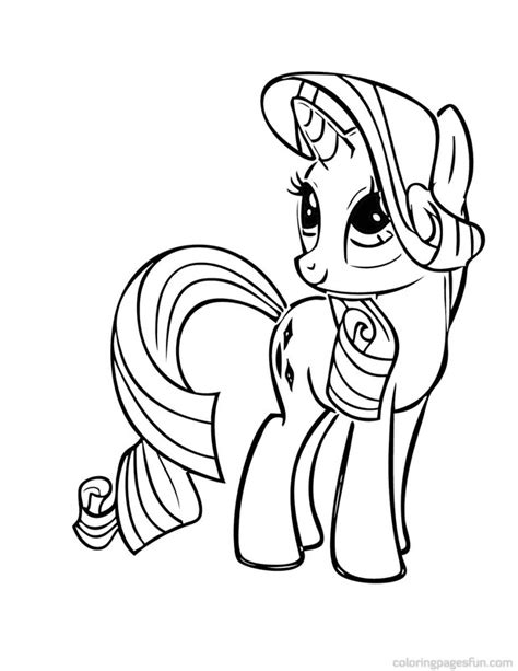 pony rarity free coloring pages art coloring pages