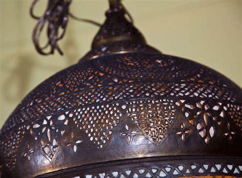 Moorish Chandelier Pierced Brass Moorish Chandelier For Sale At 1stdibs