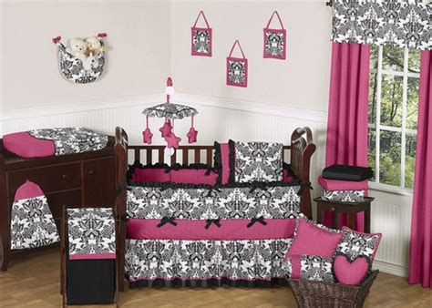 pink black white damask bedroom polyvore pink black and white damask girl baby bedding crib