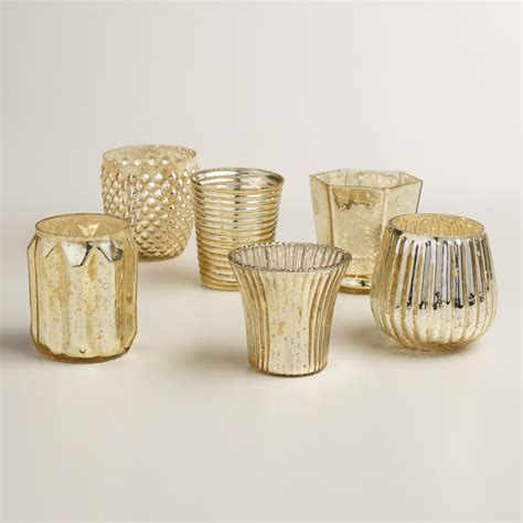 marvelous silver pillar candle holders wholesale gold mercury glass votive candleholders set of 6 world