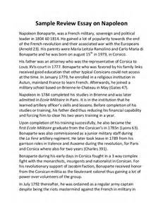 Napoleon Bonaparte Essay by Sle Review Essay On Napoleon