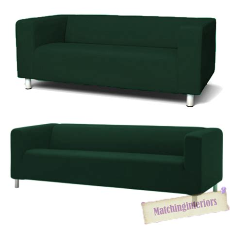 Green Slip Cover Green Cover Slipcover To Fit Ikea Klippan 2 Or 4 Seater