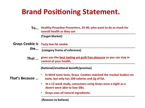 how to write a winning brand positioning statement
