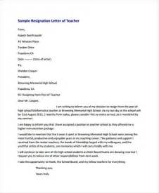 Resignation Letter Sle Because Of School 31 Resignation Letters In Pdf Free Premium Templates