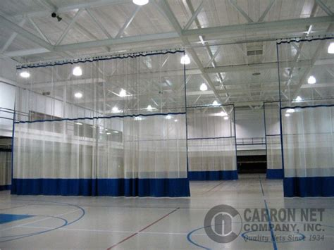 gym curtains carron net company inc gym divider curtains