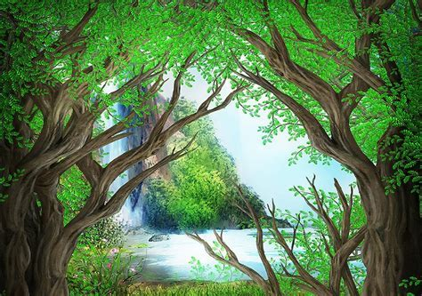 custom 3d wall murals wallpaper Painted Forest 3d floor