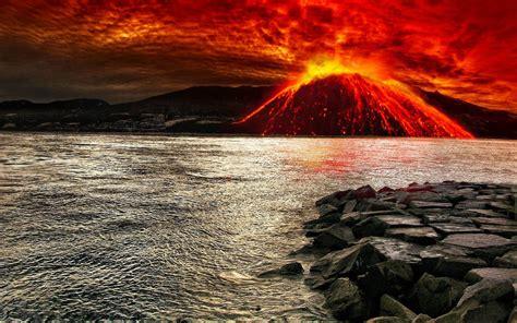 wall paper vulkanausbruch wallpaper hd hintergrundbilder