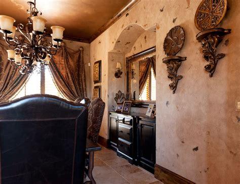formal dining faux finish mediterranean dining room