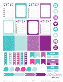 Templates For Stickers by Lilac Dreams Planner Stickers Free Printable