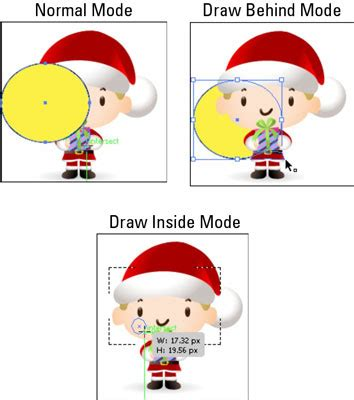 draw normal illustrator adobe cs5 illustrator drawing modes dummies