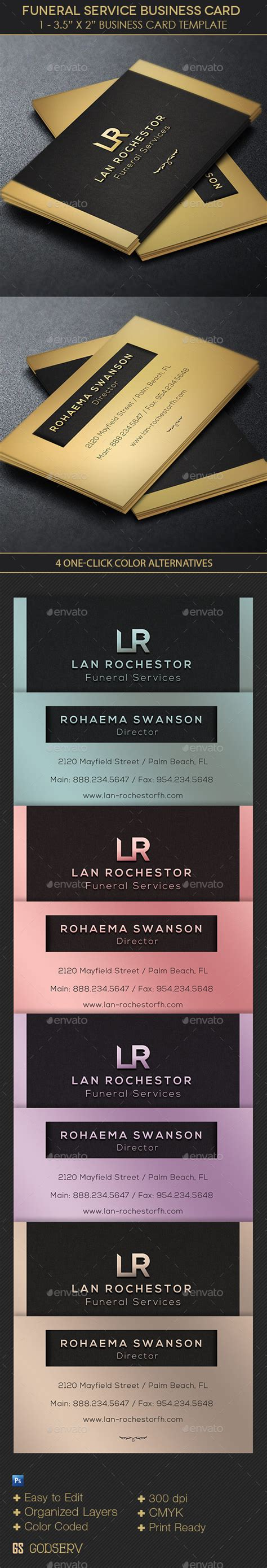 funeral director business card template by godserv