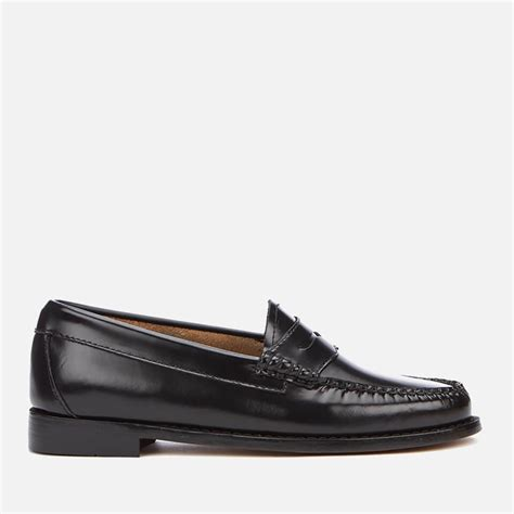 bass loafers uk bass weejuns s leather loafers black free
