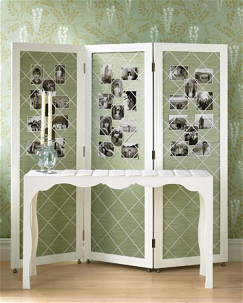 Diy Room Divider Screen Make A Photo Screen How To 10 Cool Ways To Display Photographs At Your Wedding Popsugar Home