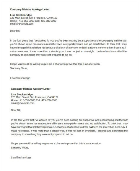 business letters with mistakes 22 apology letter templates pdf doc free premium