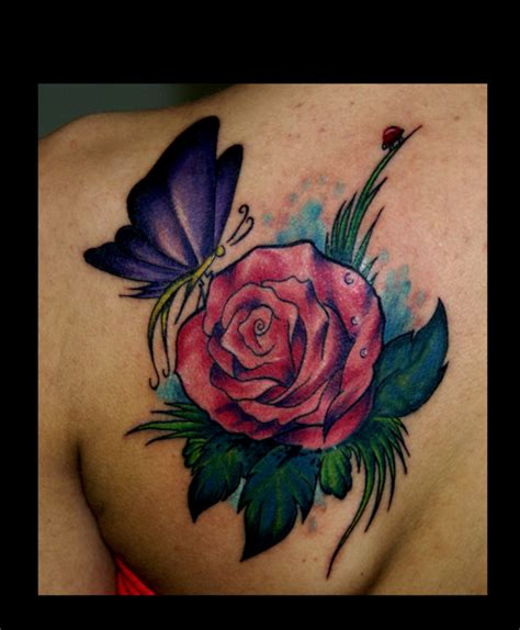 rose tattoo hd hd rose tattoos with butterfly design idea