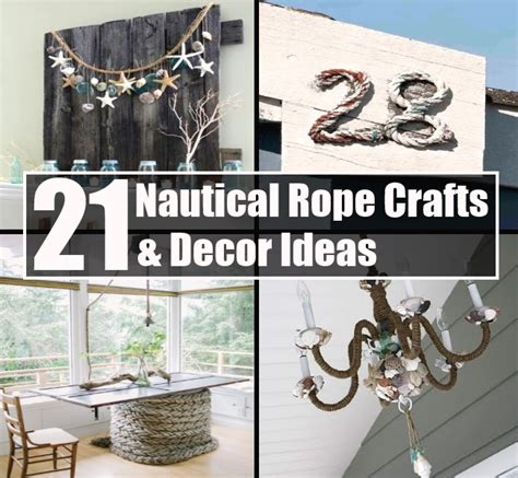 nautical craft projects top 21 nautical rope crafts decor ideas diy cozy home