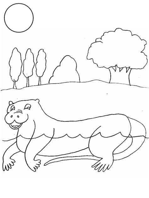river otter coloring page coloring home