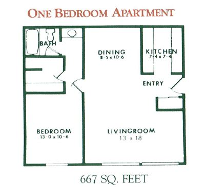 1 bedroom apartment plans 1 bedroom apartment floor plan for rent at willow pond