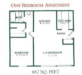 Floor Plans For One Bedroom Apartments by 1 Bedroom Apartment Floor Plan For Rent At Willow Pond