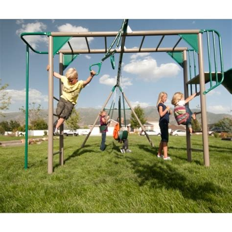 swing set with monkey bars sale lifetime 90143 monkey bar play set playground with slide