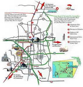 Map Of Orlando Airport by Orlando International Drive Map